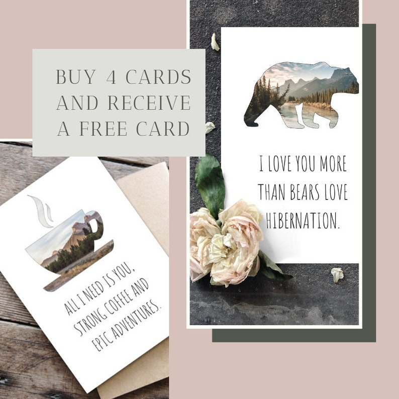 Banff National Park Eco Friendly Gift Custom Nature Card Personalized Waterfall Greeting Card Personalised Recycled Paper Card