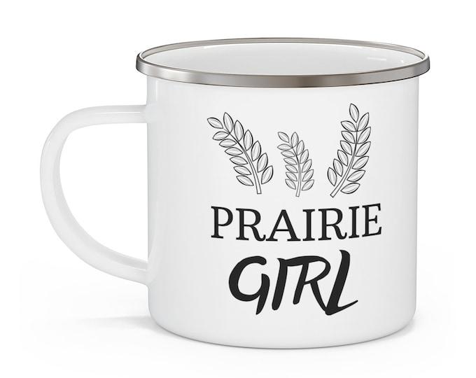 Prairie Girl Enamel Mug