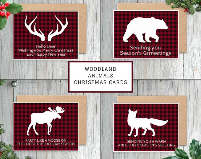 Woodland Animal Christmas Card Set