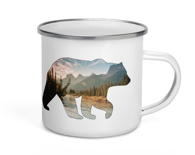 Bear Enamel Mug
