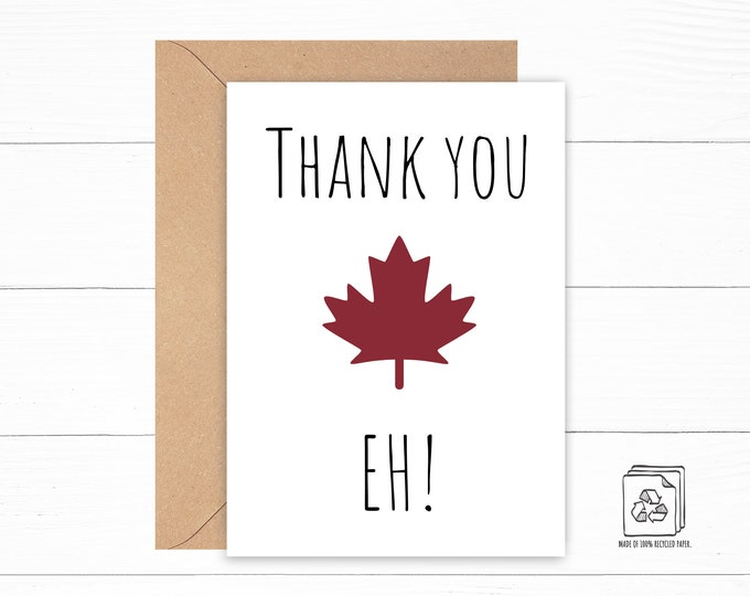 Canada Thank You Card
