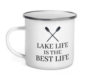 Lake Life Enamel Mug