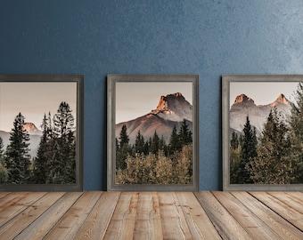 Rustic Mountain Prints Set of 3