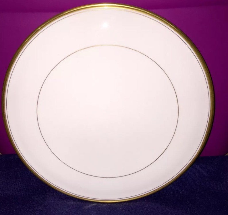 Vintage Royal Worcester Viceroy Ivory /& gold trim cake plate or cheese Server