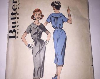 Vintage BUTTERICK #8527 Spectator Dress Sewing Pattern Sz 12