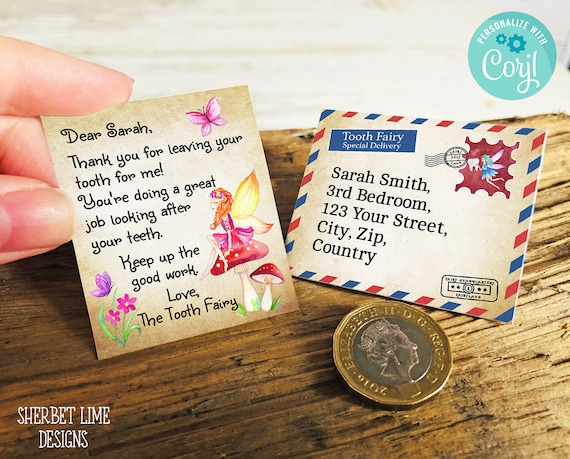 photograph about Free Printable Tooth Fairy Letter and Envelope identified as Editable Mini Enamel Fairy Letter, Certification and Envelope
