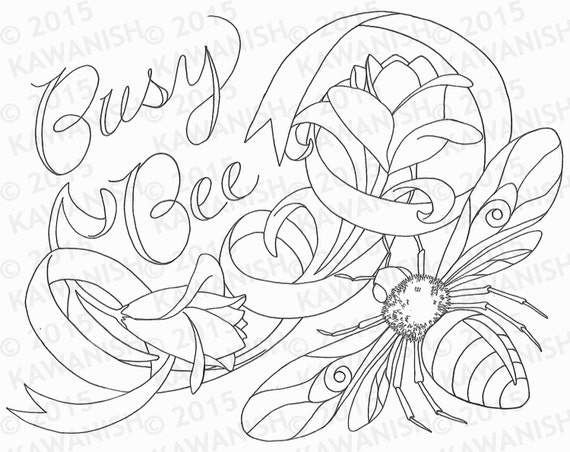Busy Bee Clipart - Bee Coloring Page - Free Transparent PNG ... | 452x570