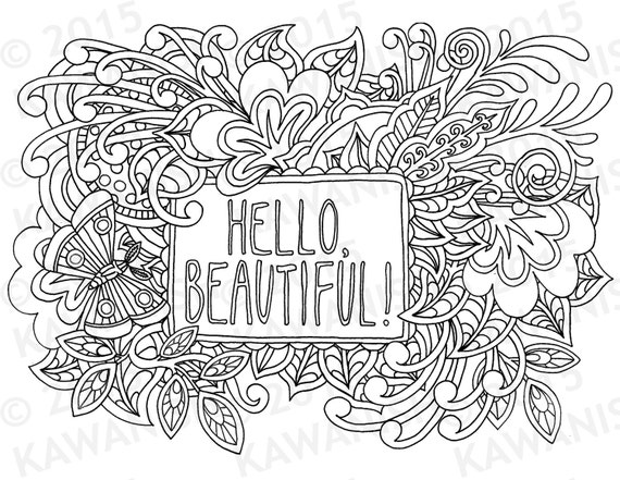Items similar to hello beautiful