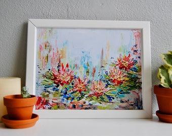Floral texture print, Floral decor