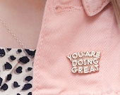 SECONDS PIN - You Are Doing Great Pin - Hard Enamel Pin - Gift for Student - Enamel Pin Set - Flair - Brooch - Lapel Pin - Alphabet Bags