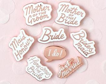 Wedding Enamel Pins