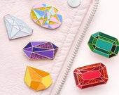 Birthstone Pin - Birthday Badge - Gemstone Pin - Hard Enamel Pin - Enamel Pin - Flair - Pins - Birthday Token Gift - Alphabet Bags