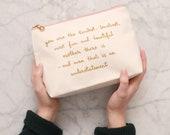 Mom Makeup Bag - Christmas Makeup Bag For Mum - Mum Cosmetics Bag - Beauty Gift for Moms - Kindest Mother Makeup Bag - Alphabet Bags