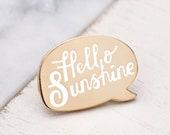 SECONDS PIN - Hello Sunshine Pin - Hard Enamel Pin - Summer Pin - Enamel Pin Set - Flair - Brooch - Lapel Pin - Pins - Alphabet Bags