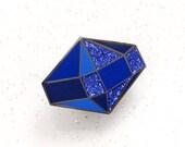 Sapphire Birthstone Pin - September Birthday - Gemstone Pin - Hard Enamel Pin - Enamel Pin Set  - Pins - Birthday Token Gift - Pin Badge