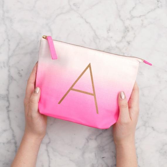 alphabet initial makeup bag