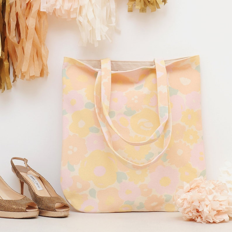 Floral Canvas Bag  Floral Handbag  Shoulder Bag  Floral image 0