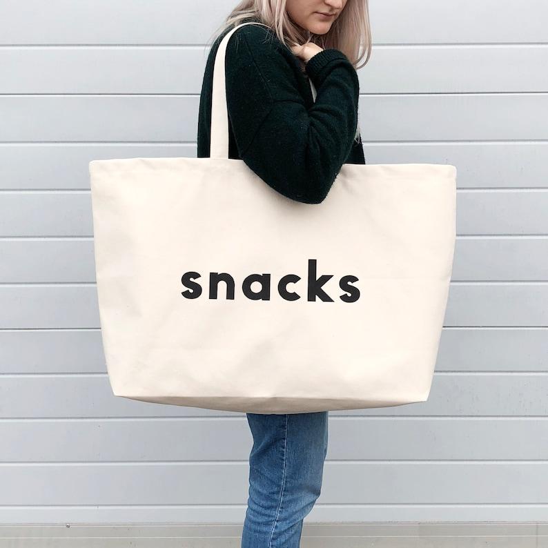 Oversized Canvas Bag Alphabet Bags Weekender Bag Snacks Really Big Bag Giant Canvas Grocery Bag Large Canvas Shopper