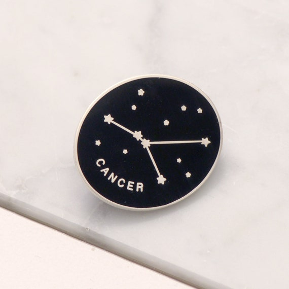 cancer constellation inspired enamel pin. CANCER CONSTELLATION PIN
