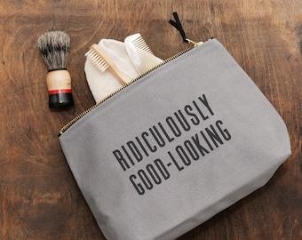 Dopp Kit - Toiletry Bag for Boyfriend - Men's Toiletry Bag - Waterproof - Shaving Kit - Ridiculously Good-Looking Washbag - Alphabet Bags