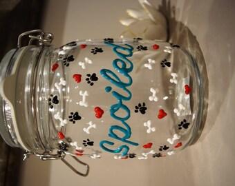 Personalized Dog Treat Jar *Dog Rescue Fundraiser*