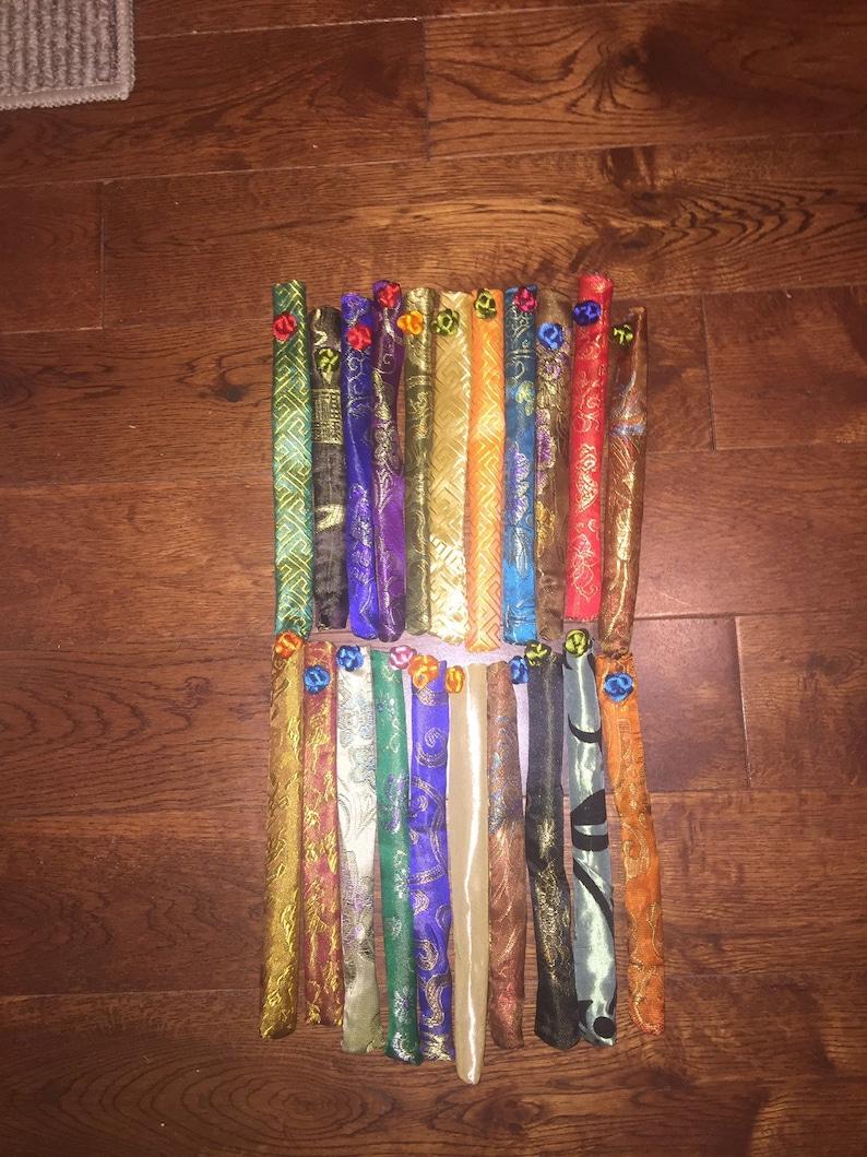Japanese 5 Color Variation  Vine FlowersChopsticks or Hairsticks w Free Handmade Silk Holder