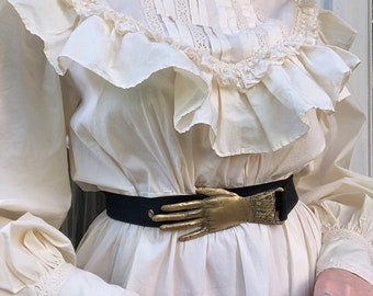 Victorian inspired handmade hand buckle belt