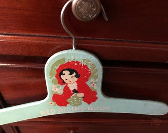 Vintage baby hanger Especially nice for baby girl or toddler Pretty vintage aqua color so sweet and shabby