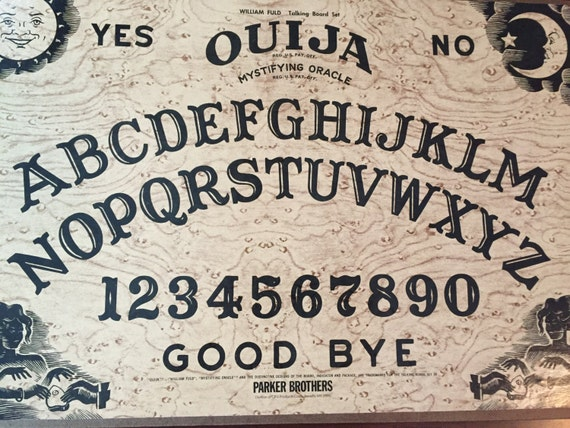 Vintage Ouija mystificateur Oracle, William Fuld jeu de société, Parker Brothers, Inc.