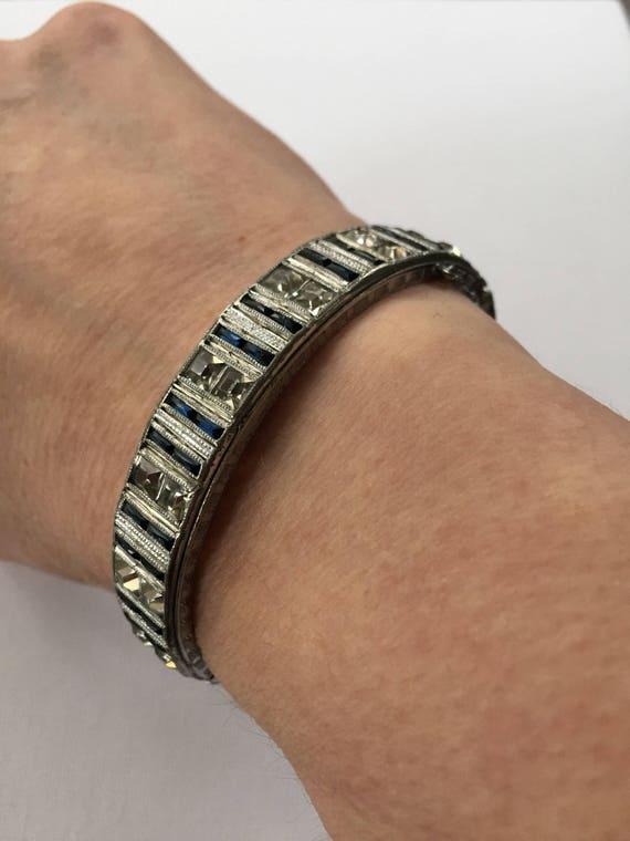 Antique Art Deco bracelet.  Allco.  Flapper style
