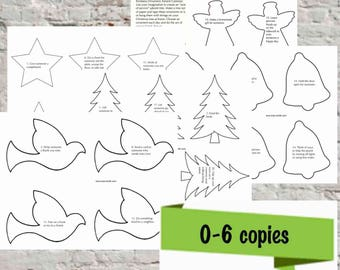 Printable Acts of Kindness Advent Calendar Ornaments - Personal use