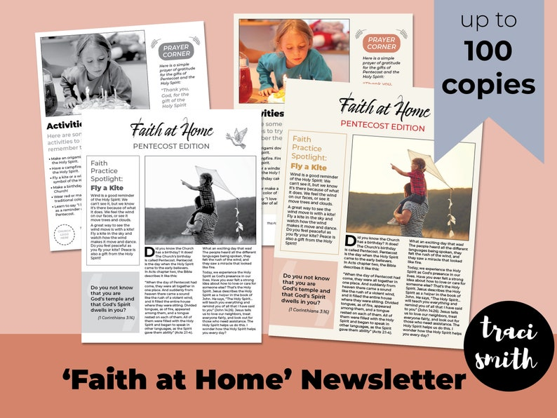 Faith At Home Newsletter  Pentecost Edition up to 100 Copies image 0