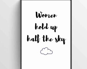"Marina's ""Women Hold Up Half the Sky"" Printable"