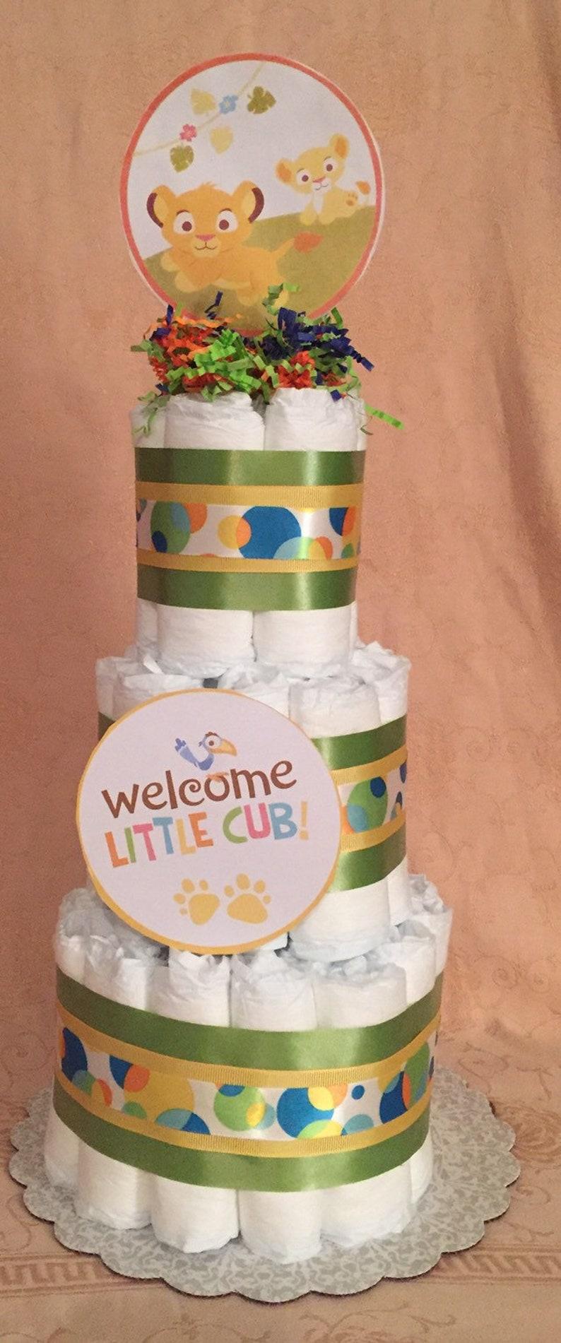3 Tier Diaper Cake Walt Disney MICKEY MOUSE Baby Shower Centerpiece