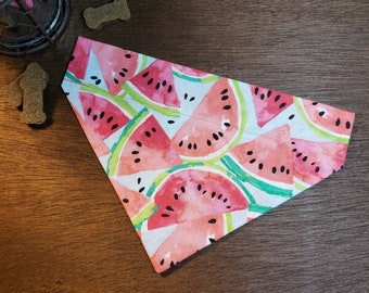 Bright Watermelon Summer Fruit Tie On Dog Bandana