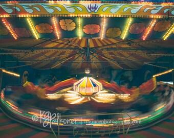 Carnival photography, carnival ride, fine art photographs, orange county fair, fun photography, color
