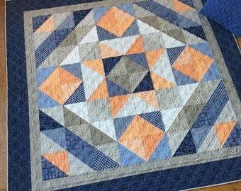 DIGITAL Pattern: Lakeside Star (Fat Quarter Quilt)