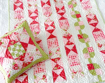 DIGITAL Pattern: By The Hours baby quilt and pillow