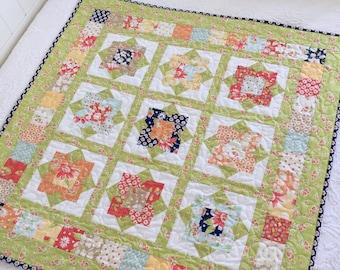 DIGITAL Pattern: Wallflowers (Charm Pack Quilt)