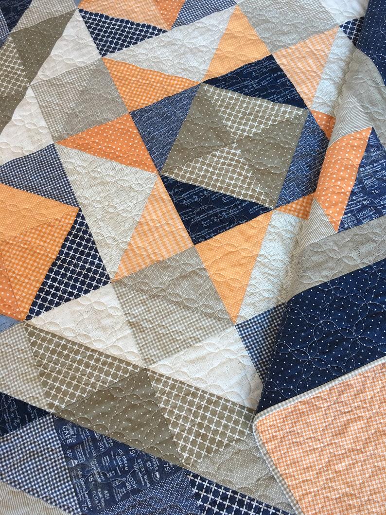 DIGITAL Pattern Fat Quarter Quilt Lakeside Star