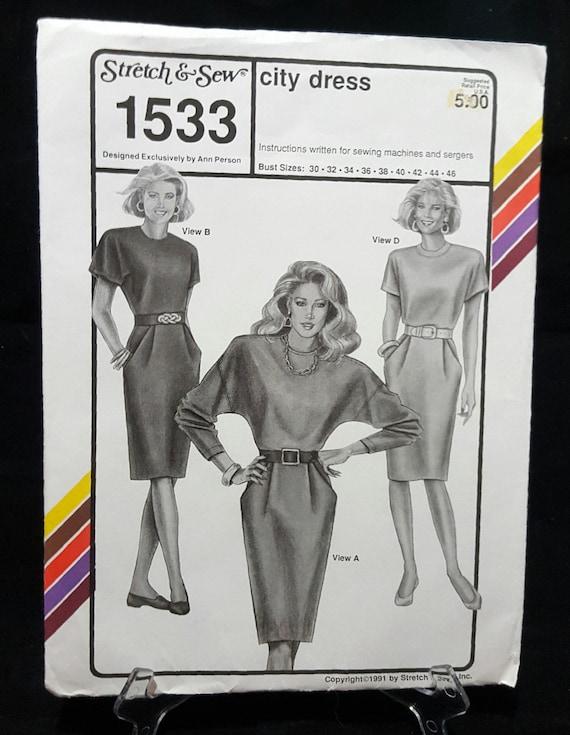 Estiramiento y coser el vestido de la ciudad de 1533 1991 | Etsy
