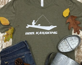 cc77e24aa7 Kayak Fishing Kayak Shirt Fishing Kayak T Shirt Fishing Kayak Gift Fishing Kayak  Tshirt Fishing Kayaking Shirt Kayaking GIft Funny Kayak Tee