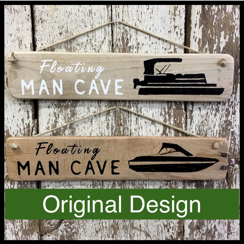 Pontoon Boating Sign for Boat Floating Man Cave Signs Boating Gift for Dad  Boat Sign Pirate Signs Man Cave Decor Boat Decor Lake House Signs