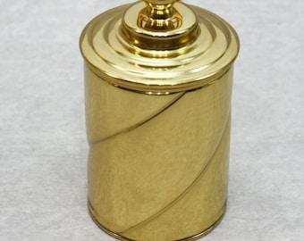 Thimble Case - Spiral - Brass