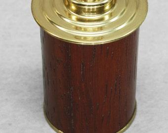 Thimble Case - Brass + Wood