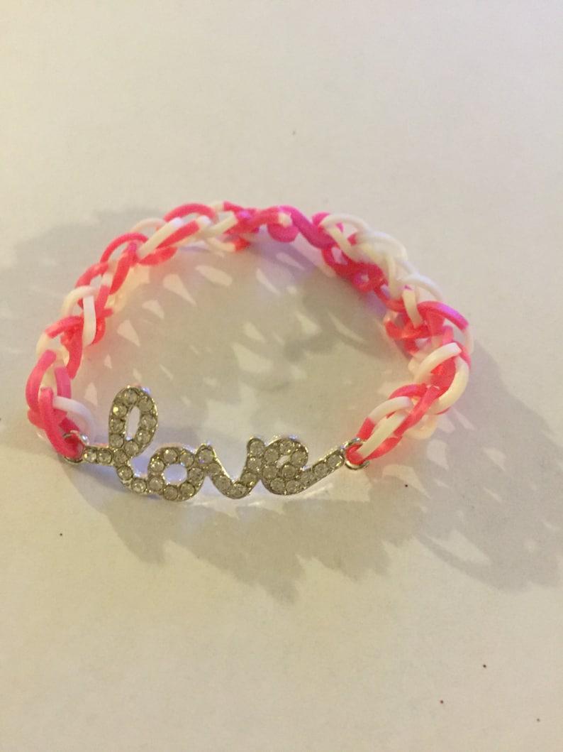 a3f29821aa2a Diamond Love Bracelet Rainbow Loom