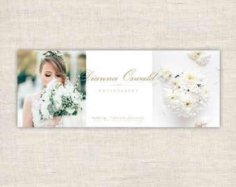 Wedding Facebook Banner Timeline Template – Photography Facebook Timeline Cover Template, Facebook Cover Photo Template Page Branding
