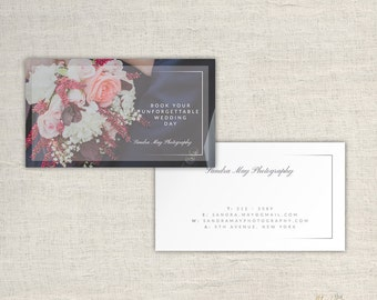 Photography Business Cards - Wedding Photographer Templates - Photo Marketing - Photoshop Files - Photography Branding - INSTANT DOWNLOAD