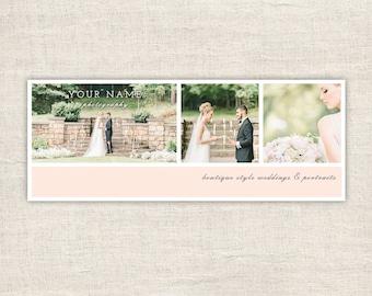 Wedding Facebook Timeline Cover - Photographer Facebook Timeline Cover Template - Facebook Photography Timeline Cover - INSTANT DOWNLOAD