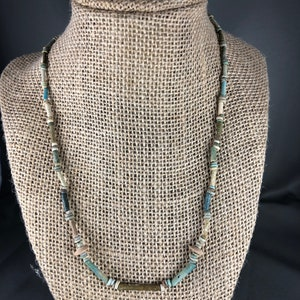 Ancient Egyptian Mummy Bead Necklace Late Dynastic Period CA 1085-525 BCE